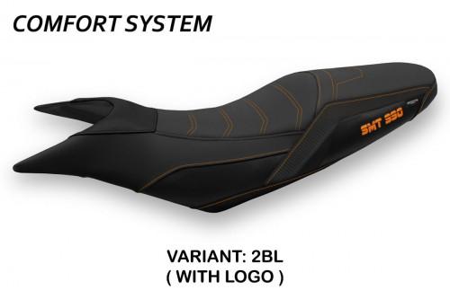 Rivestimento sella per KTM 990 Supermoto T (09-16) modello Pompei comfort system
